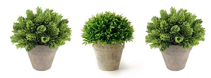 Kumii Small Artificial Topiary Plant In Pot Pineapple Grass Home