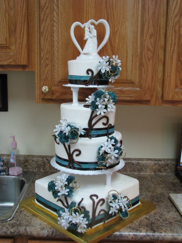 teal blue and brown wedding cakes 17 best ideas about brown teal on brown color 20775