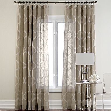 large patterned sheers jp client pinterest cindy crawford living room curtains and curtains. Black Bedroom Furniture Sets. Home Design Ideas
