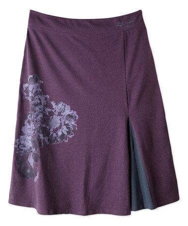 Loving this Deepest Plum Novella Skirt on #zulily! #zulilyfinds