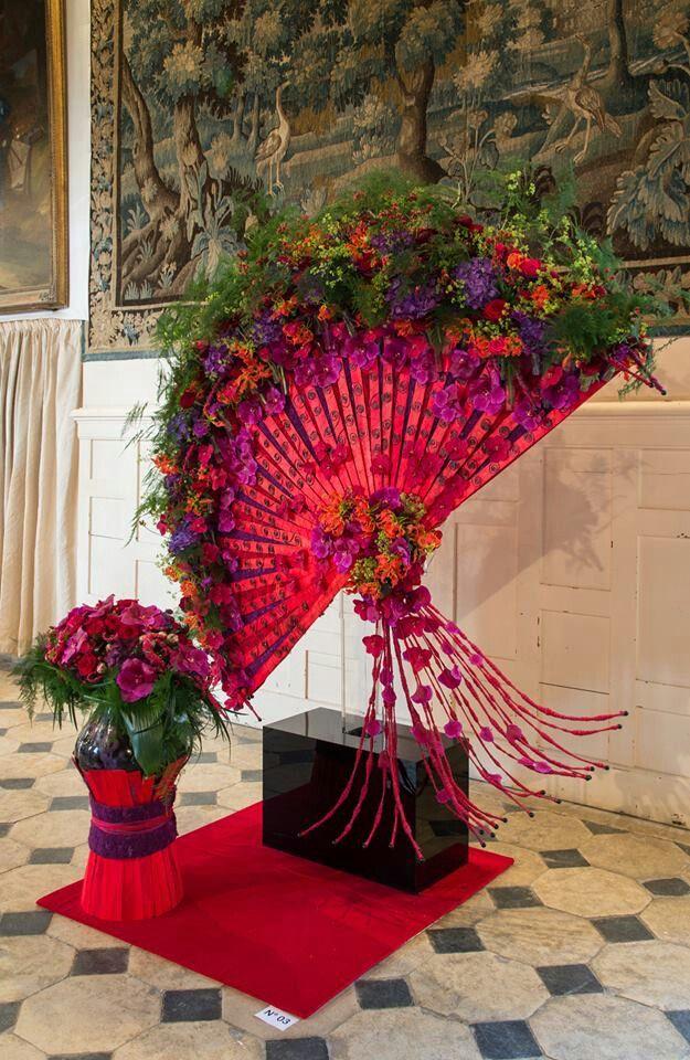Gorgeous Floral Fan