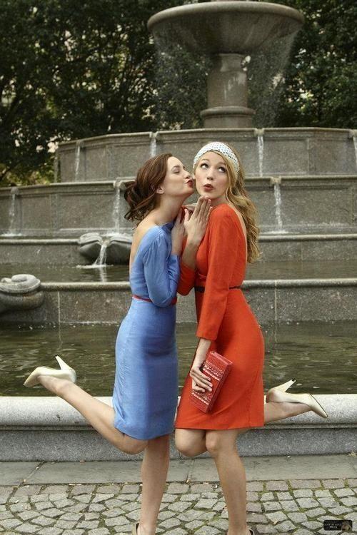 gossip girl, best friends blair and chuck