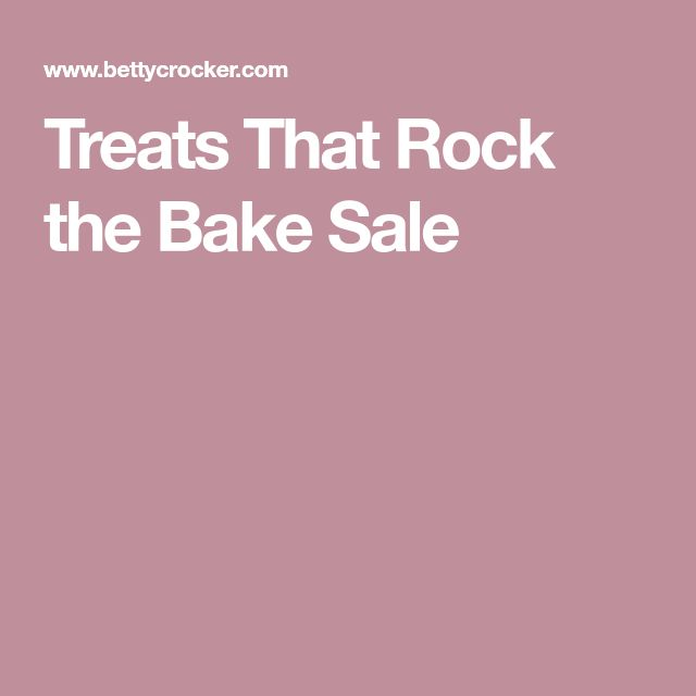 Treats That Rock the Bake Sale