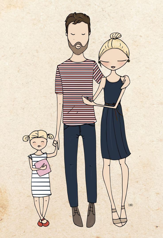 Рисунки смешной семьи