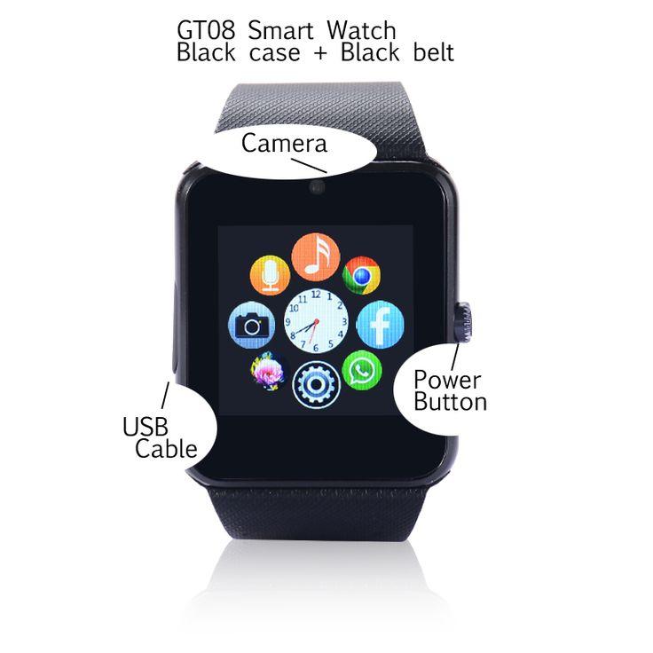10 stücke dhl verschiffen gt08 sim-karte smart watch unterstützung tf karte für Android und IOS Smartwatches mit Kamera PK U8 KH18 armbanduhr //Price: $US $155.35 & FREE Shipping //     #smartwatches