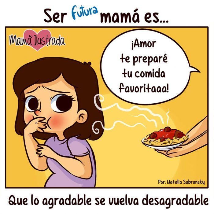 Ilustración ser futura mamá es
