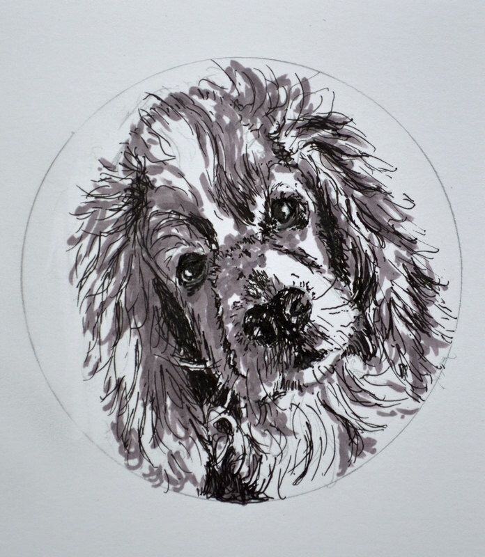 Cocker Spaniel Dog Original Drawing on Paper Home Decor Collectable Hand Made Art by YvonneHamArtwork on Etsy https://www.etsy.com/listing/170477208/cocker-spaniel-dog-original-drawing-on