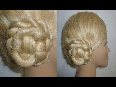 Schnelle Frisur:Dutt selber machen für die Schule.Flecht/Zopffrisur.Hair Bun UpdoHairstyle.Peinados - YouTube