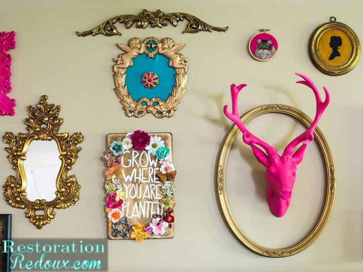 How to Build an Eclectic Gallery Wall-Decorating Challenge - Restoration Redoux