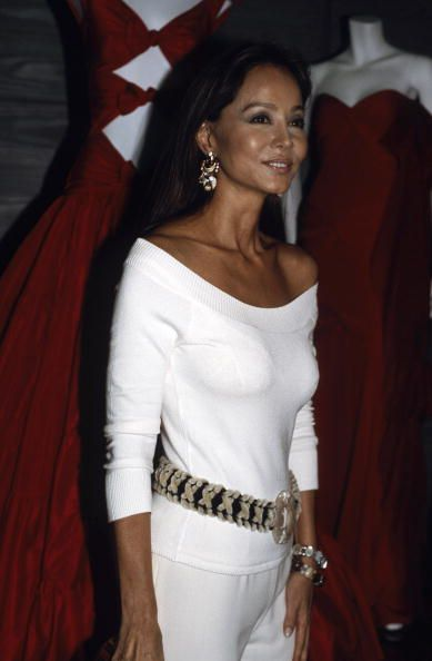 "Socialite, Isabel Preysler at the party honoring Italian designer Valentino for his ""Golden Needle"" Award 2004"