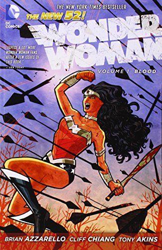 Wonder Woman, Vol. 1: Blood (The New 52) by Brian Azzarello http://www.amazon.com/dp/140123562X/ref=cm_sw_r_pi_dp_Cm8pvb18CYGN9