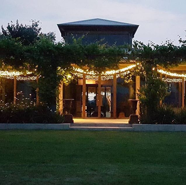 View of the barn at Stones of the Yarra Valley, wedding venue ••