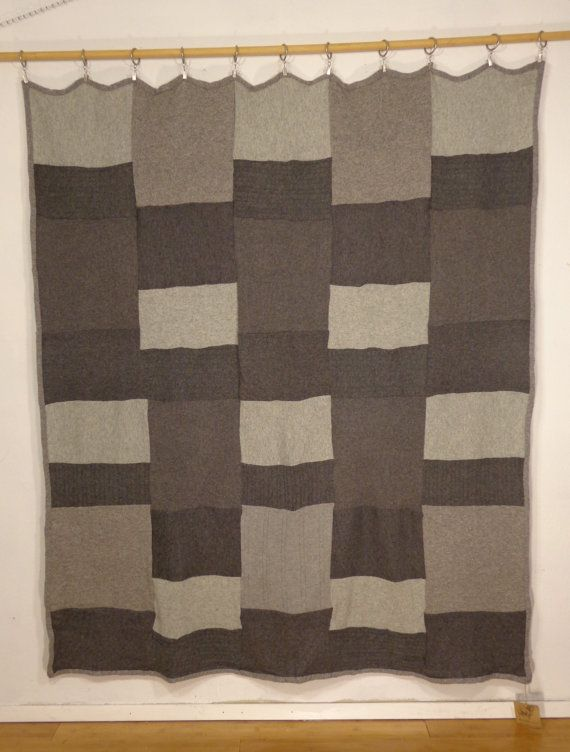 SALE 20 OFF Recycled Cashmere Throw Blanket Shades by HogansGoat