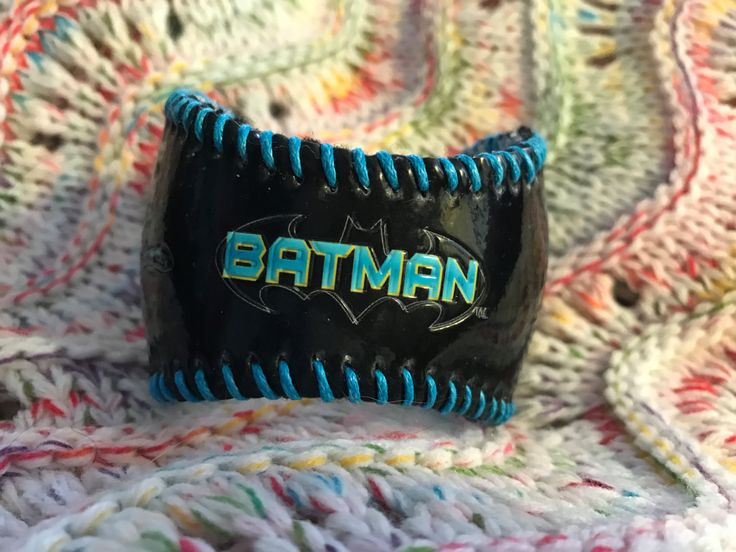 Batman baseball cuff bracelet by deniseandkimdesigns on Etsy