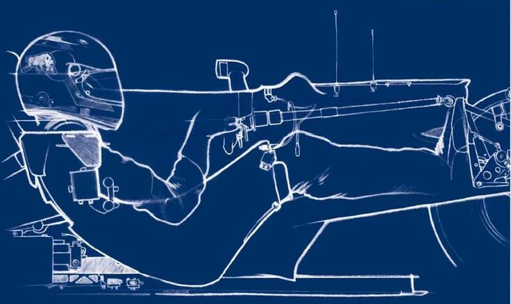 Posición de un piloto en un auto de Fórmula 1 actual