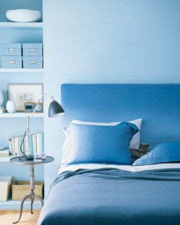 monochromatic blue room | Decorar Habitaciones en Azul