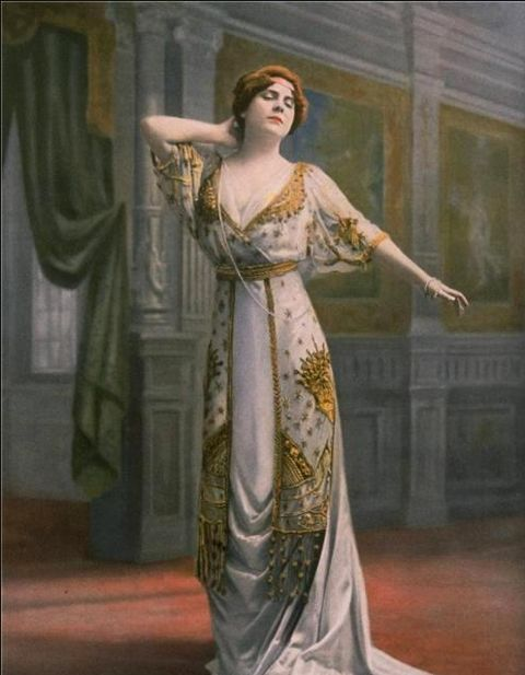 Jeanne Paquin,Madeleine Dolley   Modeling Ball Gown Made of Salome Silk