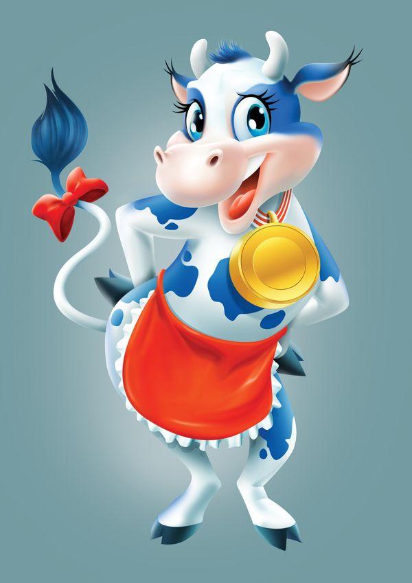 Nestlé Sunny the Cow by Glen Viljoen, via Behance