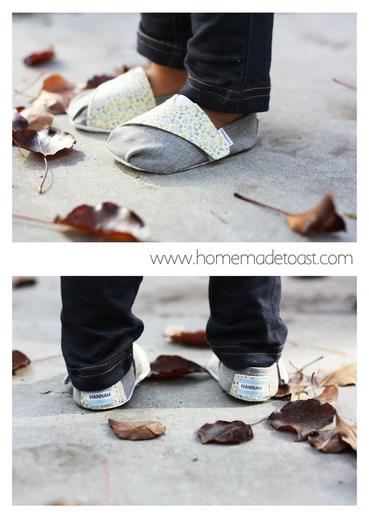 DIY TOMS-inspired Baby and Toddler Shoes-Cute DIY Baby Shoes Pattern Ideas