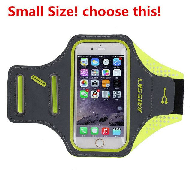 Haissky Gym Sports Armband Arm Band Cover Waterproof Case For Iphone 6 7plus Running Bag With Card Key Holder For Samsung Huawei