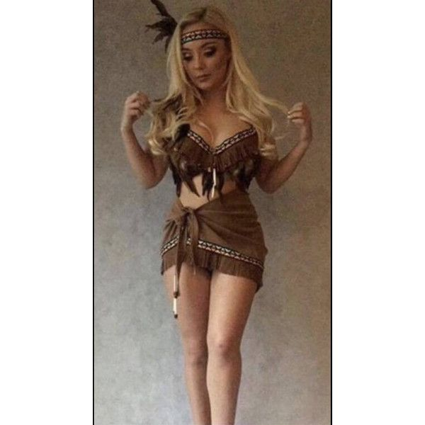 Red Indian costume Pocahontas Tigerlily adult sexy fancy dress disney... ($75) ❤ liked on Polyvore featuring costumes, sexy indian halloween costume, adult halloween costumes, adult costumes, sexy indian costume and sexy angel costume