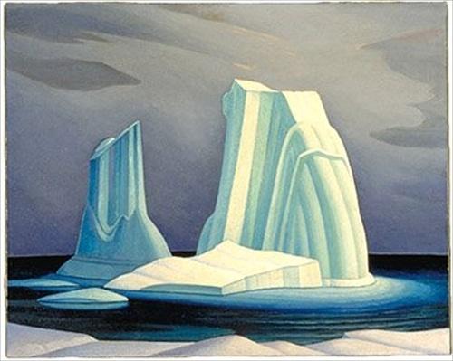 Icebergs, Davis Strait 1930. by Lawren Harris