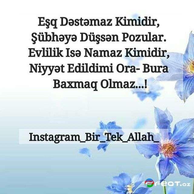 Bir Tək Allah Dini Yazili Səkilləri 3