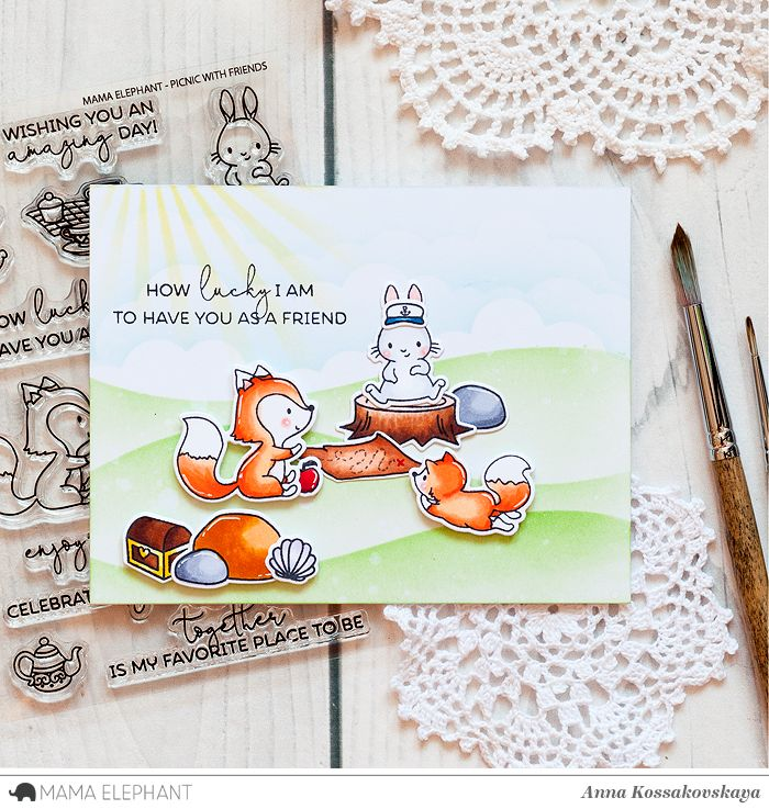 Mama Elephant Stamp Highlight: Picnic With Friends