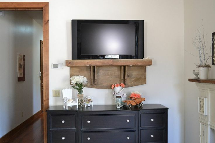 DIY: Have a wall-mounted TV, but hate the visable wires? Check out this brilliant, budget-friendly solution!