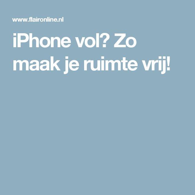 iPhone vol? Zo maak je ruimte vrij!