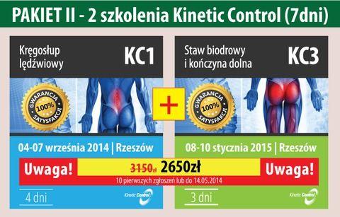 PAKIET II - 7 dni Kinetic Control Kręgosłup lędźwiowy (KC1) + Staw biodrowy i kończyna dolna (KC3)