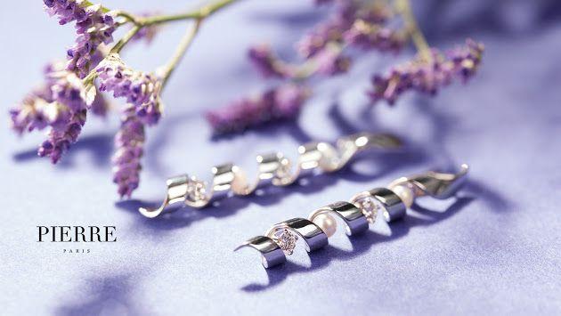 ювелирные украшения PIERRE серьги из белого золота с бриллиантами и жемчугом #PIERRE #PIERREjewellery #PIERREparis