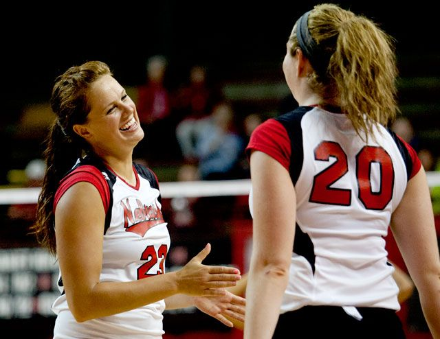 Nebraska women's volleyball bests South Dakota in spring ...