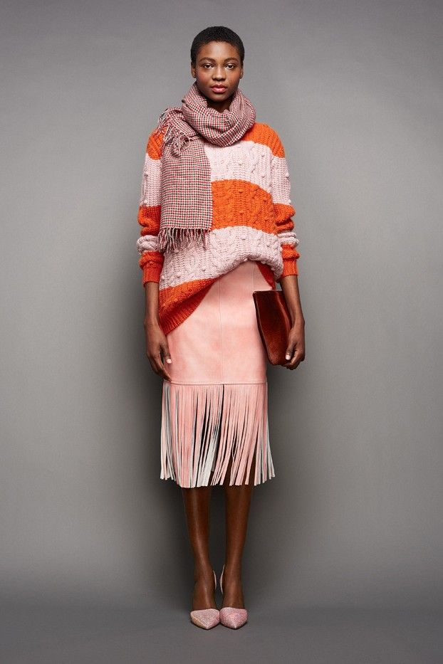 J.Crew Fall/Winter 2015 NYFW // fringe leather skirt