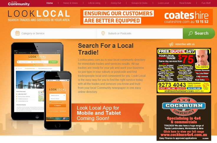 Looklocalwa.com.au is your local community directory for immediate trades and services results. See the site at www.looklocalwa.com.au Another website developed and maintained by www.sushidigital.com.au