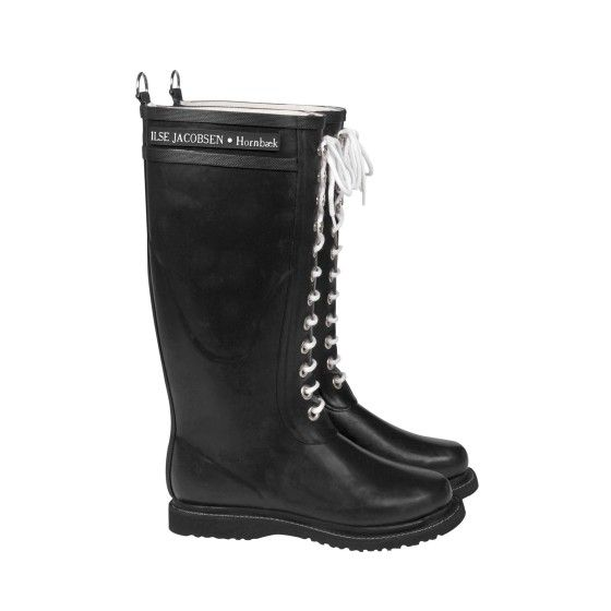 Long Classic Rain Boots with Laces