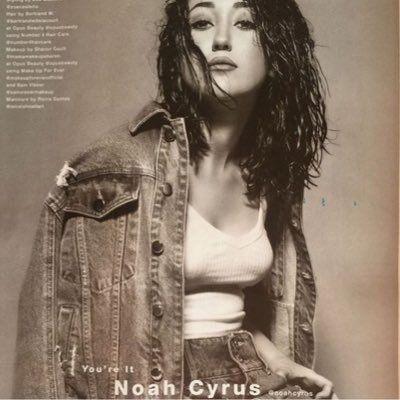 "."" ' Noah Cyrus @noahcyrus #GoodLooksServed ."