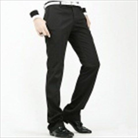 Stylish Slim Fit Men's Straight Trousers - Black (Size-L) $36.60