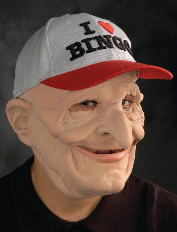 Old Man Bingo Mask