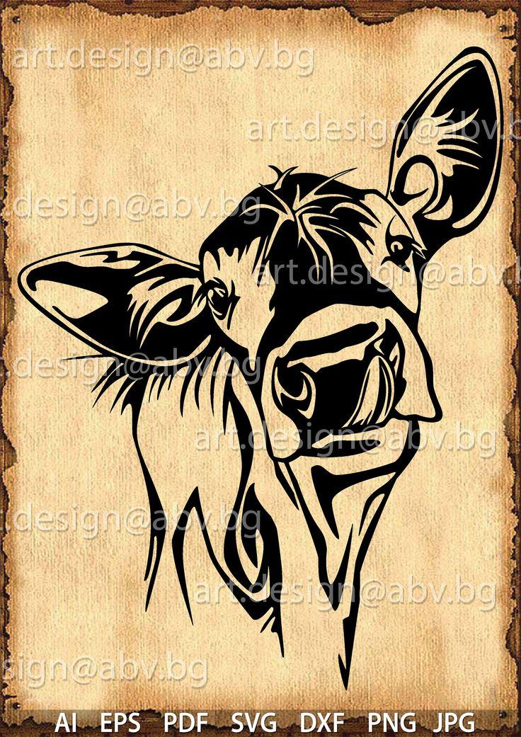 Pin By D Sens On Vector Animals Svg Cow Calves