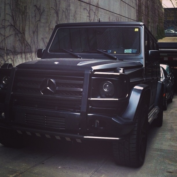 Black on black Mercedes