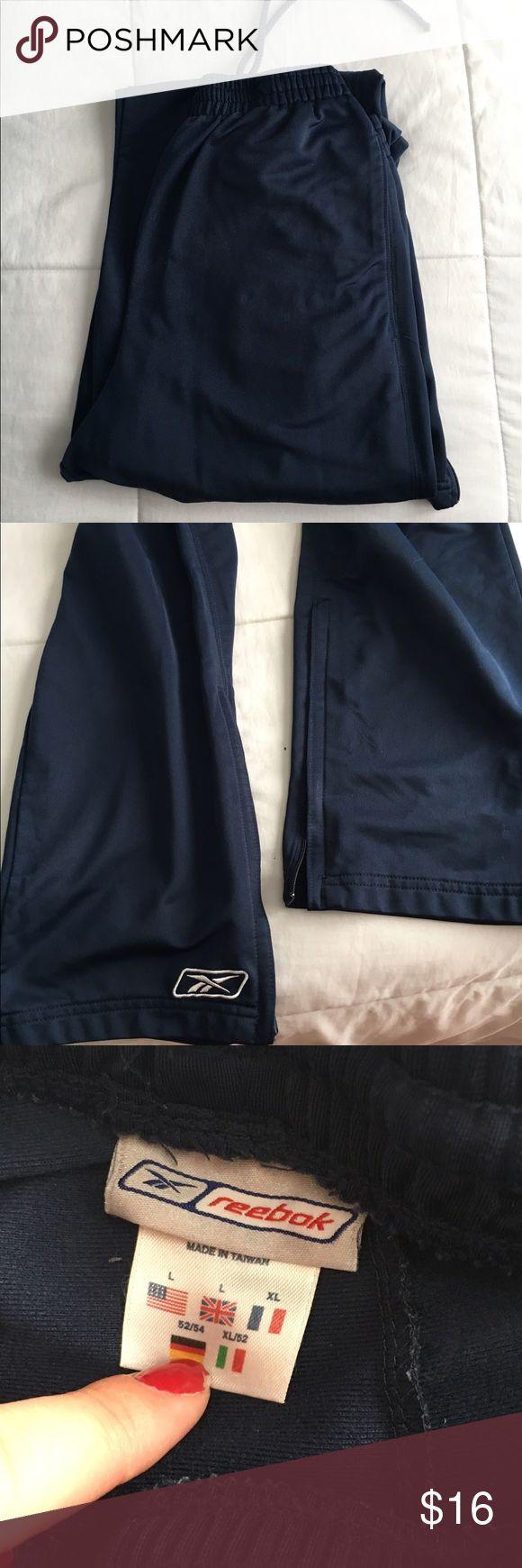 Men's Reebok sweatpants In perfect condition! Zips up ankle Reebok Pants