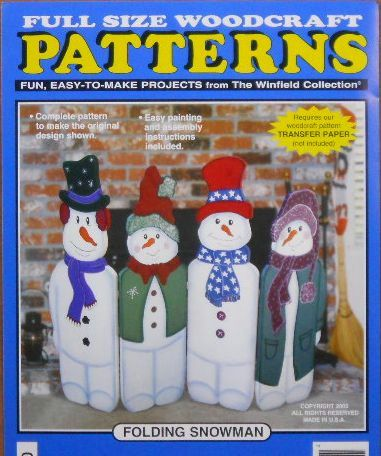 Folding Snowman Wood Craft Pattern