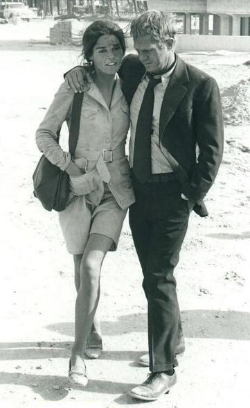 Ali MacGraw and Steve McQueen