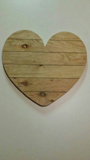 Mooi houten hart. Zelf gemaakt!