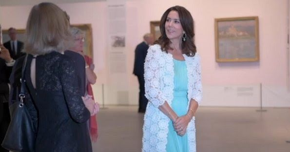 Princess Mary visits Monet's exhibition at Ordrupgaard Museum.  23-8-2016