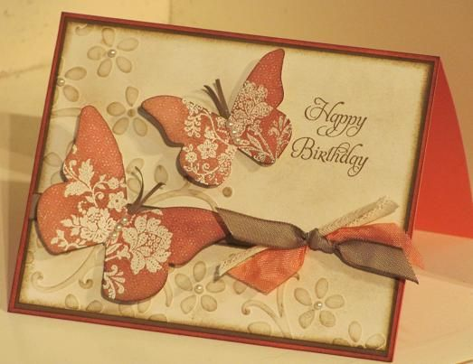Stampin' Up! SU, Stamping with LynnStamps And Cardmaking, Beautiful Butterflies, Birthday, Cards Ideas, Vintage Stamps, Stamps Sets, Fresh Vintage, Butterflies Cards, Paper Butterflies