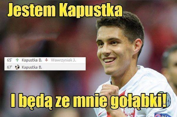 Bartosz Kapustka wszedł i strzelił gola w meczu Polska vs Islandia • Jestem Kapustka i będą ze mnie gołąbki • Wejdź i zobacz mem >> #polska #pol #memy #pilkanozna