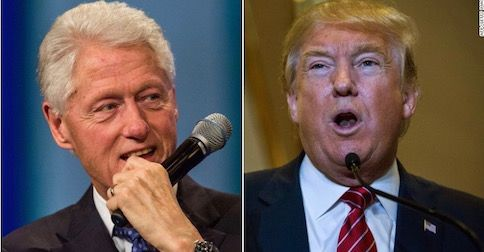 Donald Trump corrects Bill Clinton on two accounts and it's embarrassing