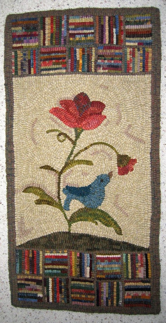 Simple Pleasure Newest Original Primitive Rug Hooking Pattern We Three Linen Like Border